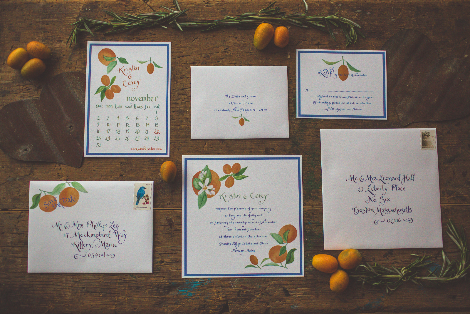 Amazing Maine Wedding Invitations