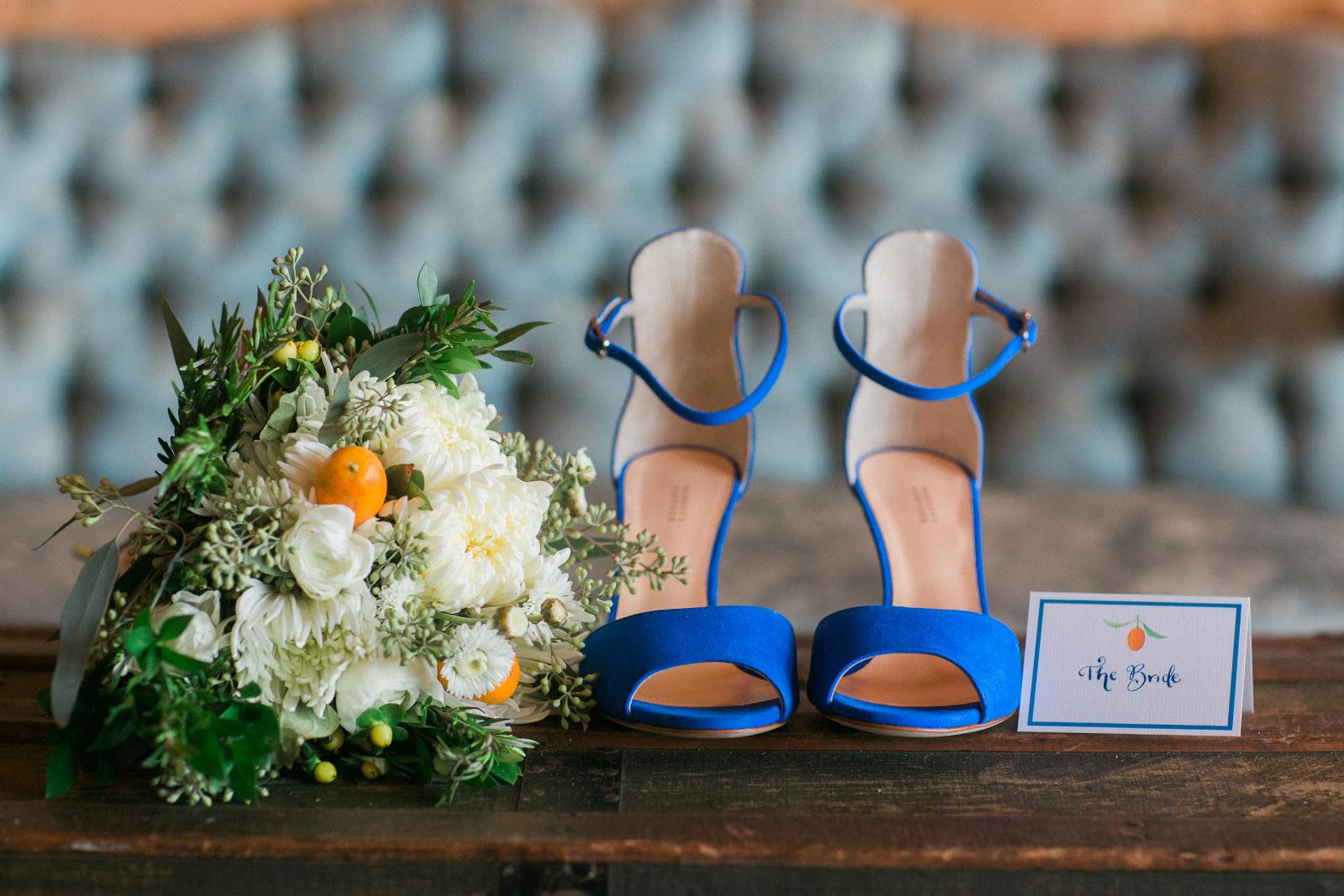 Blue Bridal shoues