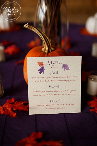 October Wedding Idea