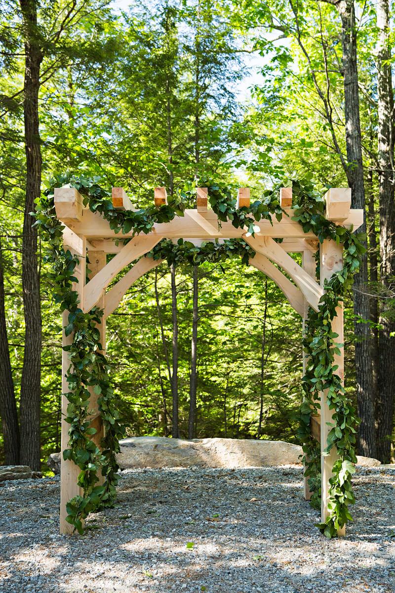 Timberframe Wedding Arbor
