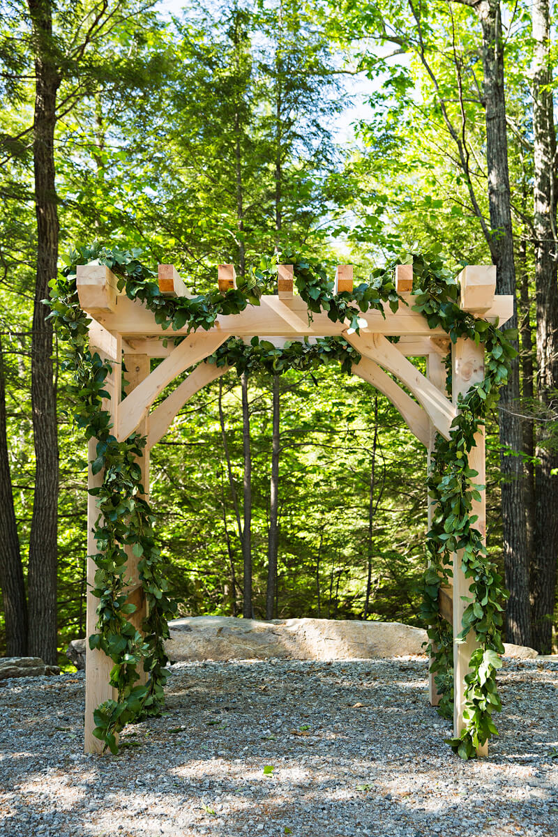 Timberframe Wedding Arbor