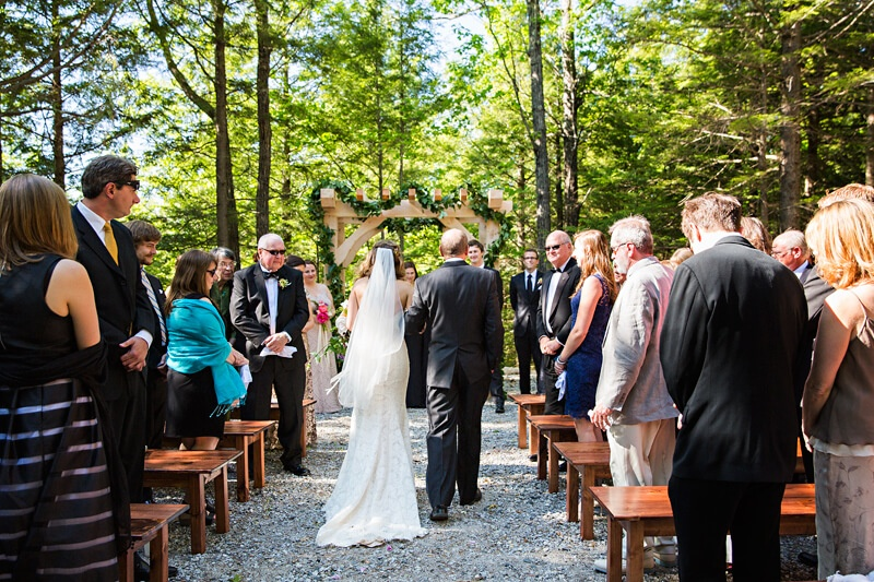 Rustic Outdoor Maine Wedding Setting