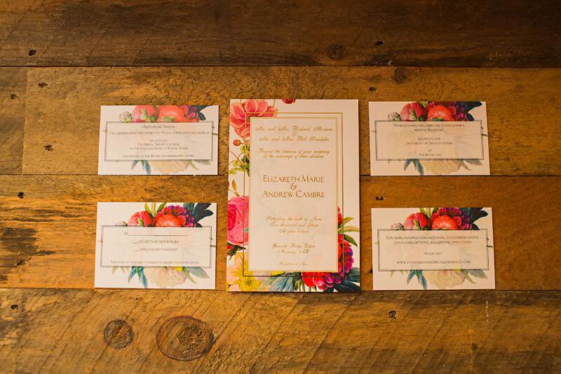 Rustic Elegant Wedding Invitations