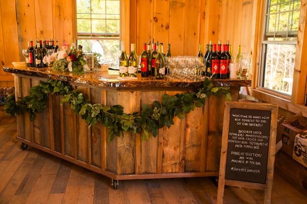 Rustic Wedding Bar