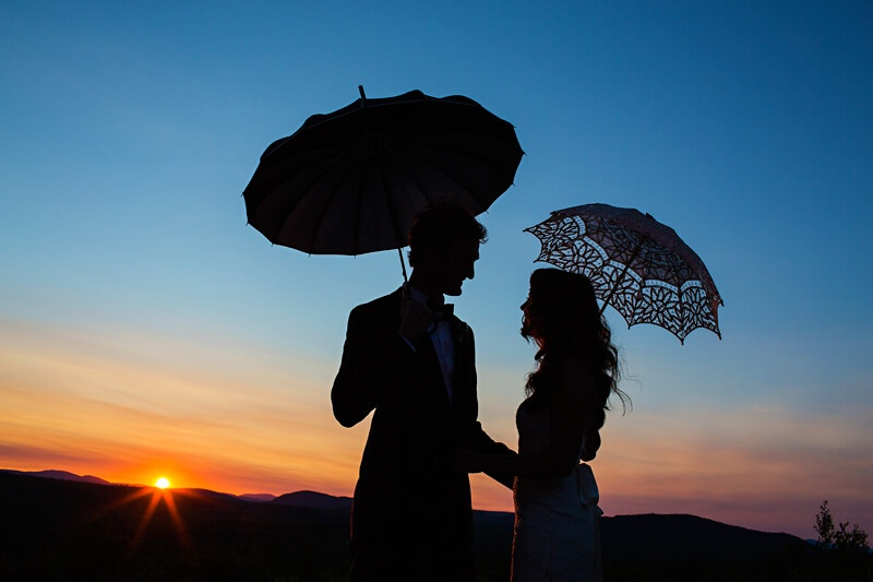 Sunset Wedding Picture