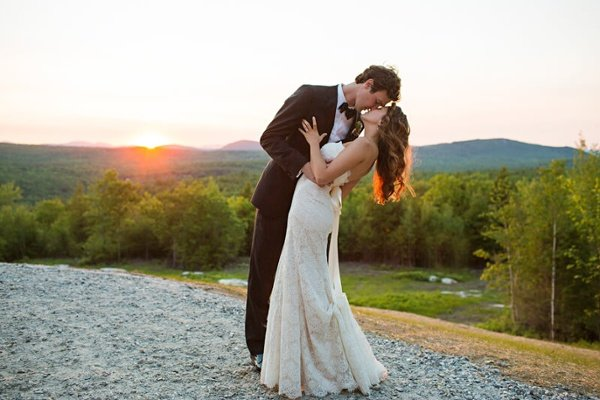 Beautiful Wedding Kiss
