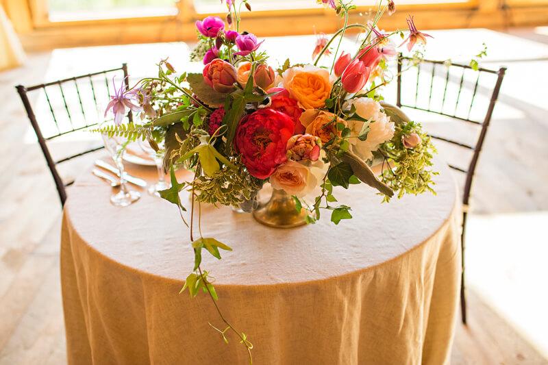 Wedding Sweat Heart Table